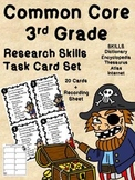 Common Core 3rd Grade-Research Skills-Pirate Task Cards