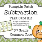 Common Core 3rd Grade-Subtraction with Regrouping Task Car