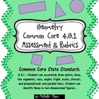 Common Core 4.G.1 {Geometry Assessment &amp; Rubrics}
