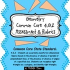 Common Core 4.G.2 {Geometry Assessment &amp; Rubrics}