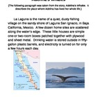 Common Core 4th Grade Writing Topic:  Adelina's Whales