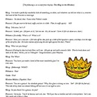 Common Core 4th Grade Writing Topic plus Bonus :  The King
