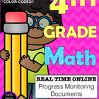 {Common Core} 4th grade Math Progress Monitoring Documents