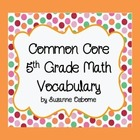 Common Core 5th Grade Math Vocab Wordwall Cards