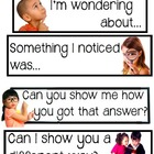 Common Core Academic Language Sentence Frames for Math