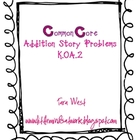 Common Core Addition Story Problems K.OA.2