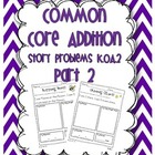 Common Core Addition Story Problems {part 2} K.OA.2