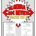 Common Core Algebra 2/Integrated 3 Practice Test