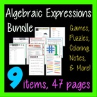 Common Core - Algebra Expressions Combo Pack - 6-in-1 Bundle