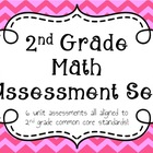 Common Core Aligned 2nd Grade Math Assessment Set