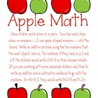 Common Core Aligned Apple Math Equations