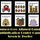 Multiplication Center Games Seven to Twelve Common Core Al