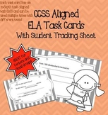 Common Core Aligned ELA Task Cards With Student Tracking S