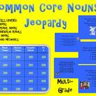 Common Core Aligned Nouns Jeopardy Game-Plural, Abstract,