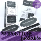 Proportions Foldable Notes ~Common Core Aligned to 7.RP.2
