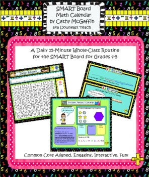 Common Core-Aligned SMART Board Math Calendar for Grades 4-5