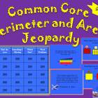 Common Core Area and Perimeter Jeopardy-3rd Grade Fun!