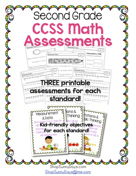 Common Core Assessment Pack-Math Grade 2