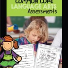Common Core Assessments Language Arts Pack Grade 1