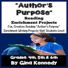 Common Core Author's Purpose Language Arts Enrichment Proj