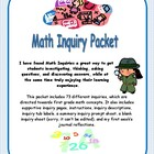 Common Core Based Math Inquiry Packet