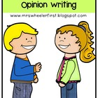 Common Core Based Opinion Writing K-2