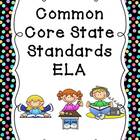 Common Core Binder Covers Freebie