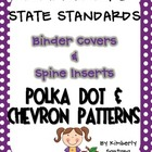 Common Core Binder Covers &amp; Spines {Polka Dot &amp; Chevron}