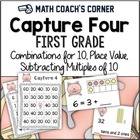 Common Core: Capture 4 1st Grade Math Strategy Games