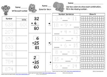 Common Core: Capture 4 2nd Grade Math Strategy Games