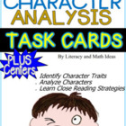 Common Core Character Analysis Task Cards and Literacy Centers