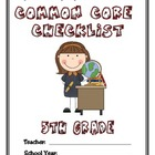 Common Core Checklist - 5th Grade - ELA & MATH