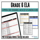 Common Core Checklist ELA Grade 6