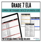 Common Core Checklist ELA Grade 7