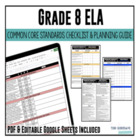 Common Core Checklist ELA Grade 8