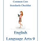 Common Core Checklist English Language Arts 9 (and 10)