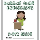 Common Core Checklist - K-5 - ELA & MATH