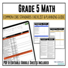 Common Core Checklist Mathematics Grade 5