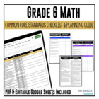 Common Core Checklist Mathematics Grade 6