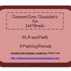 Common Core Checklists for 1st Grade  4 Marking Periods!