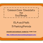 Common Core Checklists for 2nd Grade  3 Marking Periods!