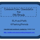 Common Core Checklists for 5th Grade  4 Marking Periods!