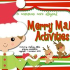Common Core Christmas Math Activities