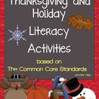 Common Core Christmas, Thanksgiving, and Holiday Literacy