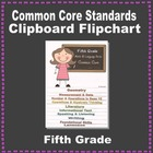 Common Core Clipboard Flipchart Resource (5th Grade)
