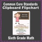 Common Core Clipboard Flipchart Resource (6th Grade Math)