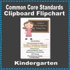 Common Core Clipboard Flipchart Resource (Kindergarten)