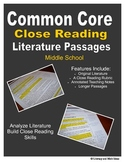 Common Core Close Reading Practice (Middle School)