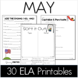 Common Core Crunch - May - ELA CCSS Printables - Growing Firsties