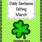 Common Core Daily Language Sentence Editing: March